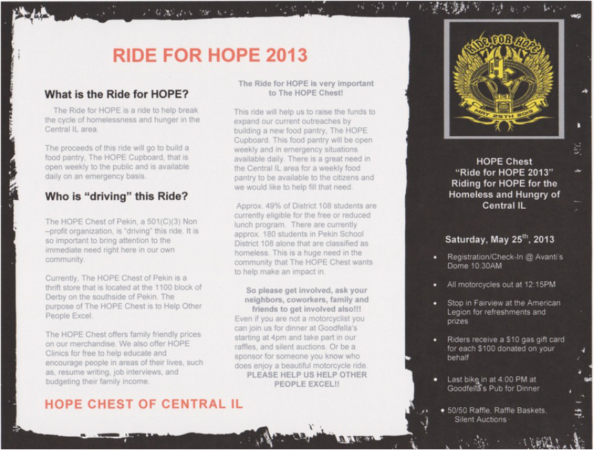 Description of the Ride 4 HOPE